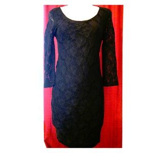 Lace 3/4 sleeve Bodycon Dress